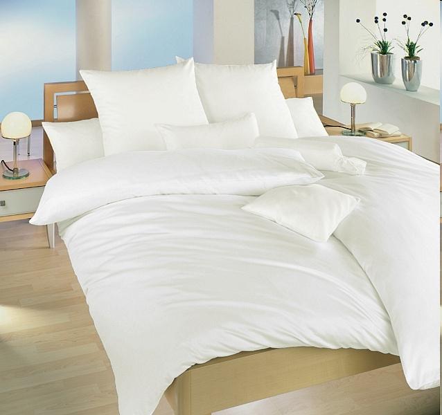 Povlečení bavlna bílá UNI 140x200, 70x90 cm