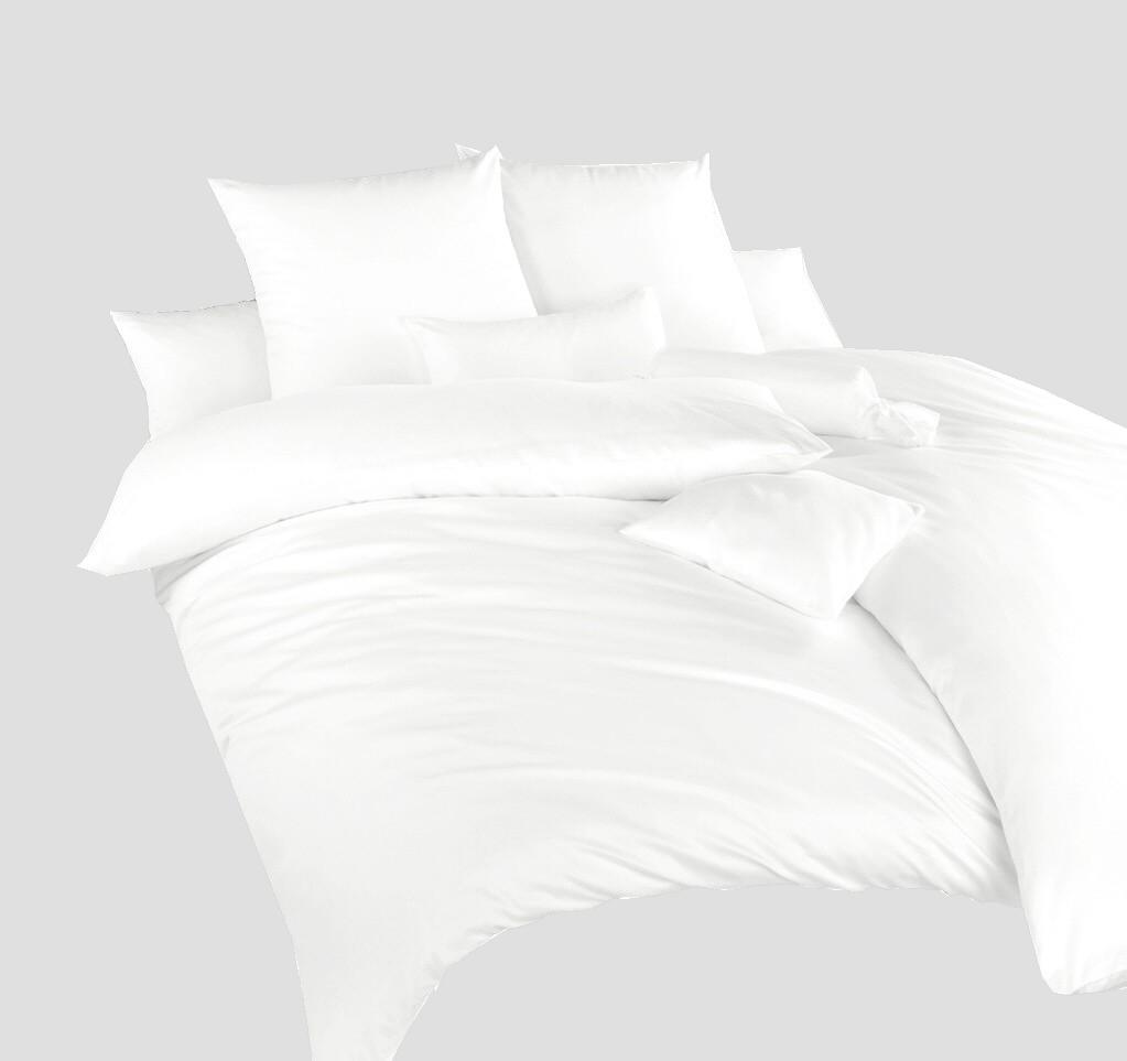 Povlečení krep bílá UNI 140x220, 70x90 cm