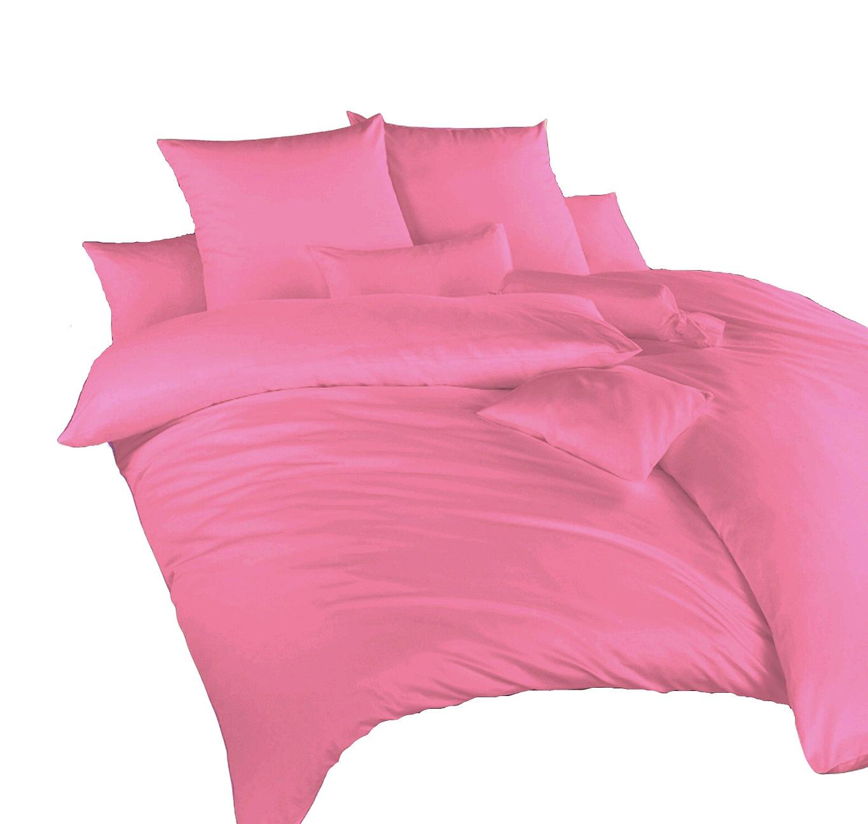 Povlečení satén růžová 140x200, 70x90 cm