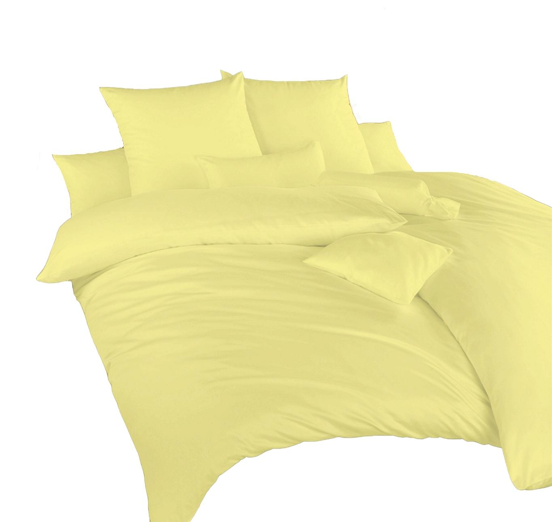 Povlečení krep žlutá UNI 140x220 70x90