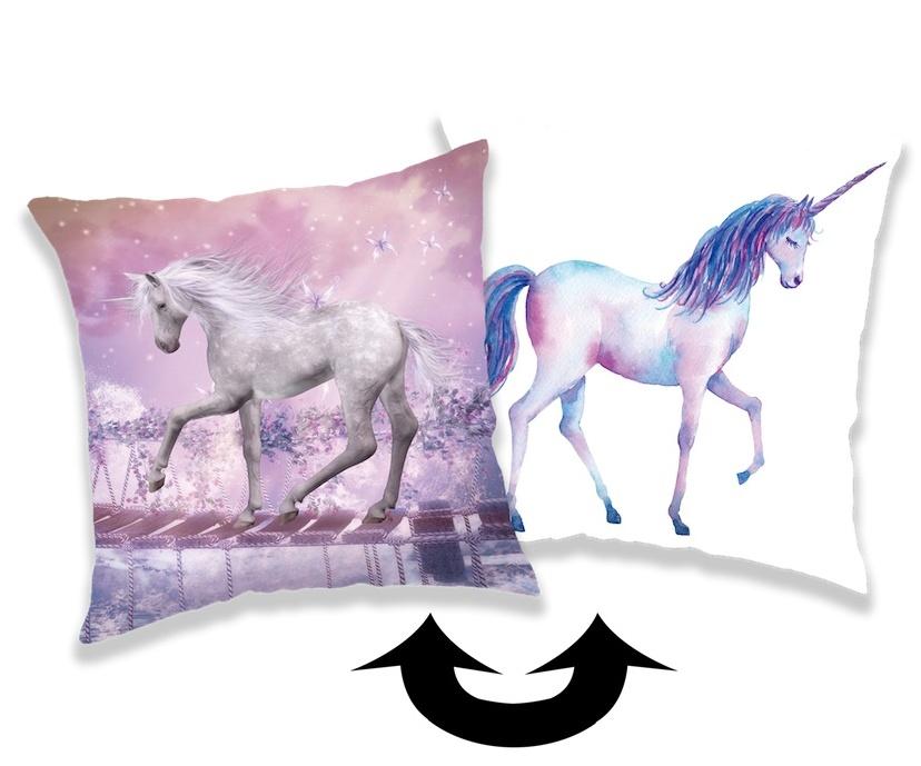 Polštářek s flitry Unicorn 01 40x40 cm