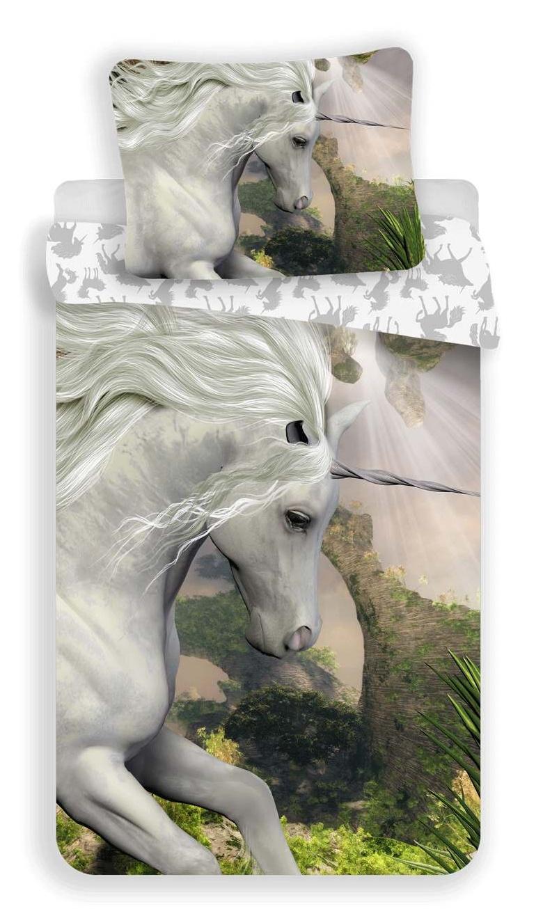 Povlečení Jednorožec white 140x200, 70x90 cm