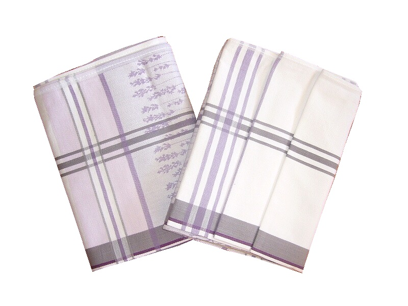 Utěrka Levandule bavlna 50x70 balení 3 ks
