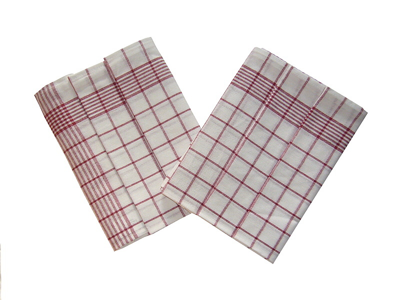 Utěrka Negativ Egyptská bavlna bílá/vínová 50x70 cm balení 3 ks