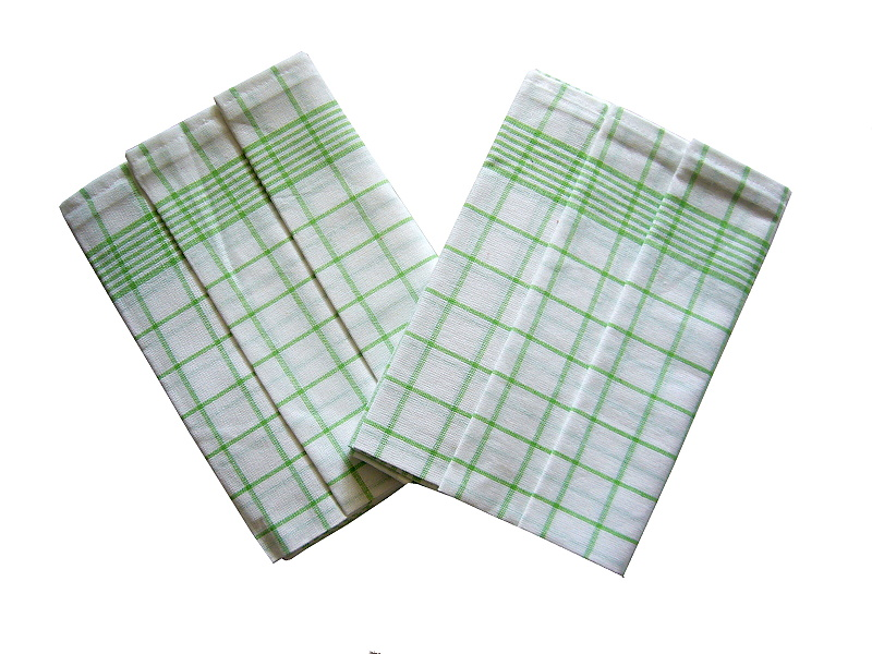 Utěrka Negativ Egypt.bavlna 50x70 bílá/zelená 3 ks