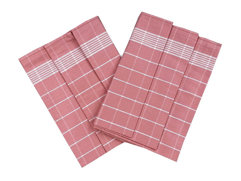 Svitap 040500-01POZAB05A Utěrka Pozitiv Egyptská bavlna starorůžová/bílá - 3 ks