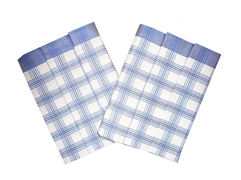 Utěrka Bambus 50x70 Kostka velká modrá balení 3 ks