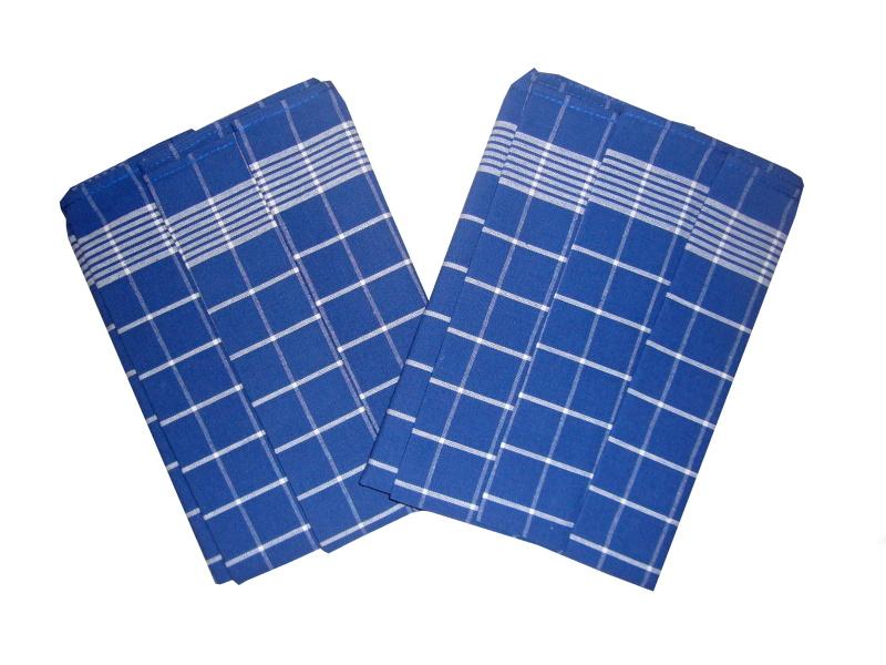 Utěrka Pozitiv Egyptská bavlna modrá/bílá 50x70 cm balení 3 ks