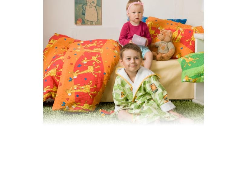 Povlečení bavlna do postýlky - Žirafa červená  1x 90/130, 1x 45/60