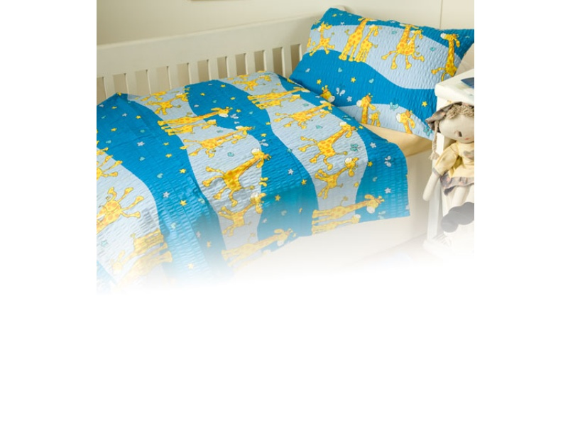 Povlečení bavlna do postýlky - Žirafa modrá   1x 90/130, 1x 45/60