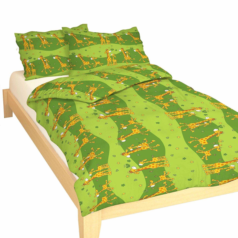 Povlečení krep do postýlky Žirafa zelená 90x130, 45x60 cm