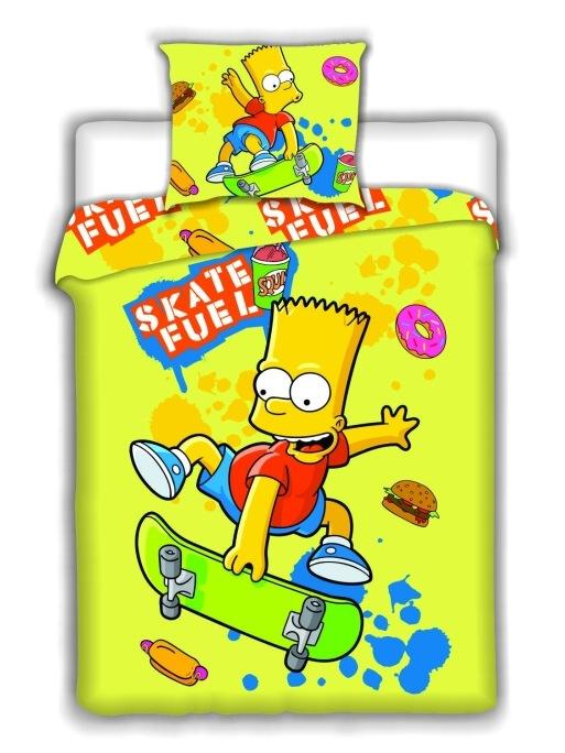 Povlečení Simpsons Bart Skate yellow 140x200 70x90