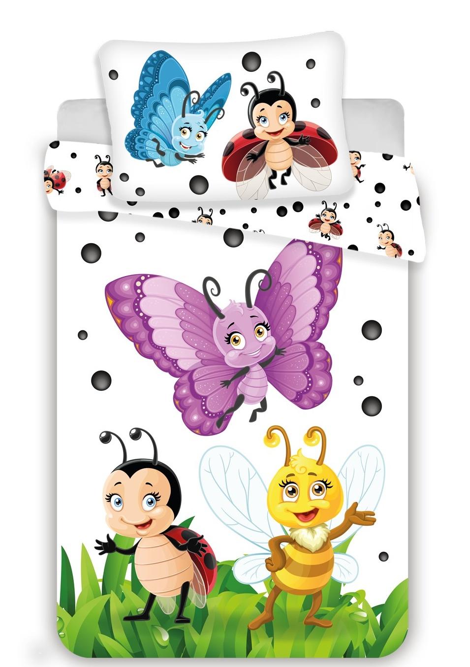 Disney povlečení do postýlky Berušky baby 100x135, 40x60 cm