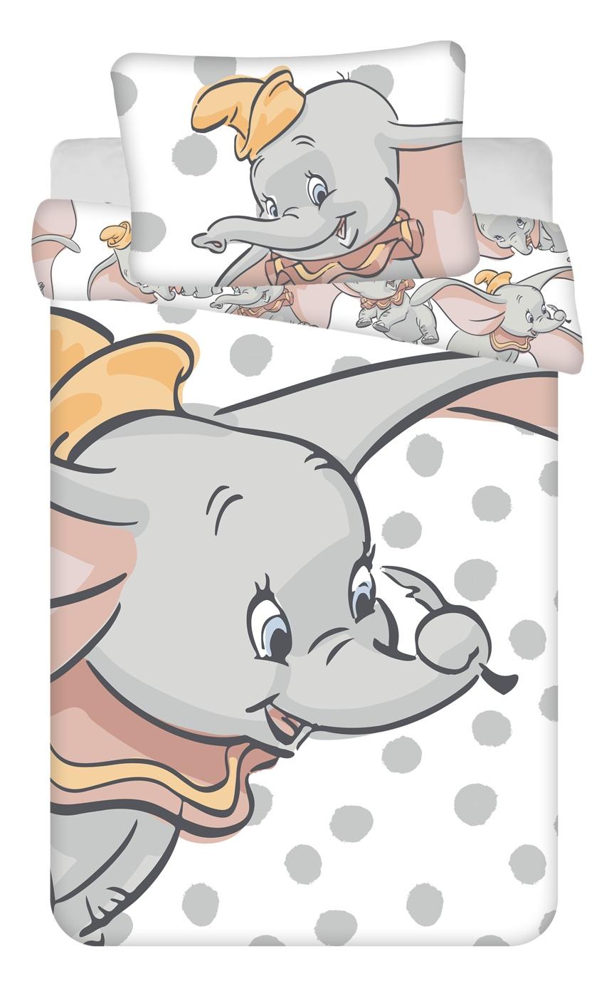 """Disney povlečení do postýlky Dumbo """"Dots"""" baby 100x135, 40x60 cm"""