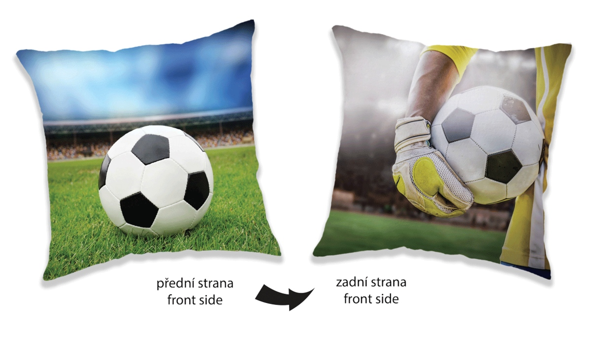 Polštářek Fotbal two sides 40x40 cm