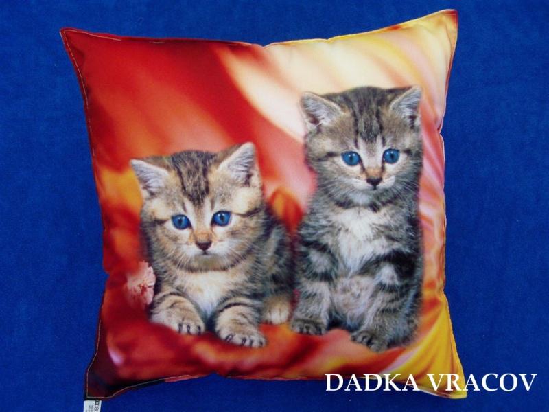 Fotopolštářek Koťata v ohni 40x40