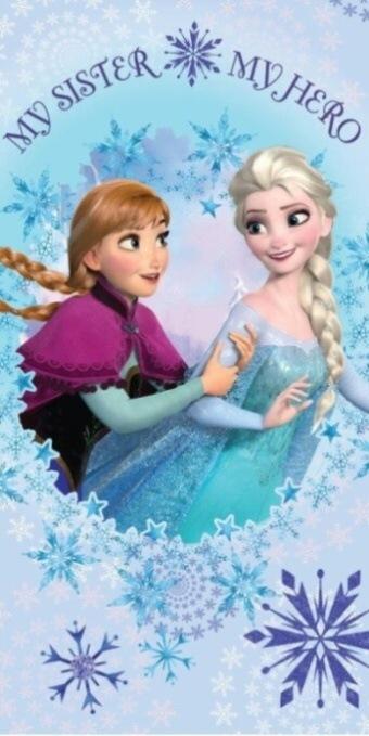 Plážová osuška Frozen sisters - 75x150 cm