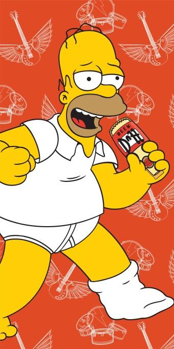 Plážová osuška Simpsons Homer 2015 - 75 x 150 cm