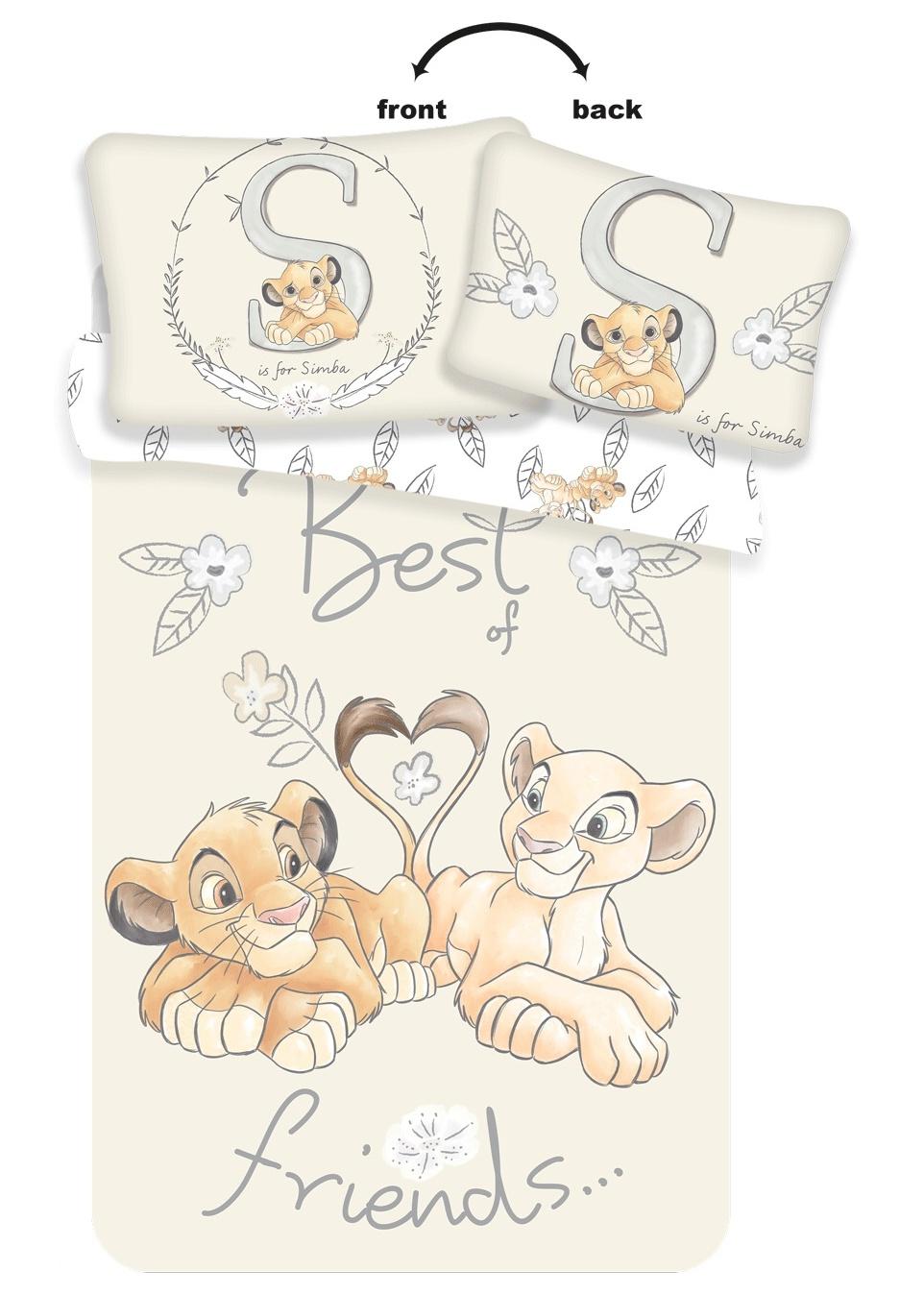 Disney povlečení do postýlky Lví Král Best Friends baby 100x135, 40x60 cm