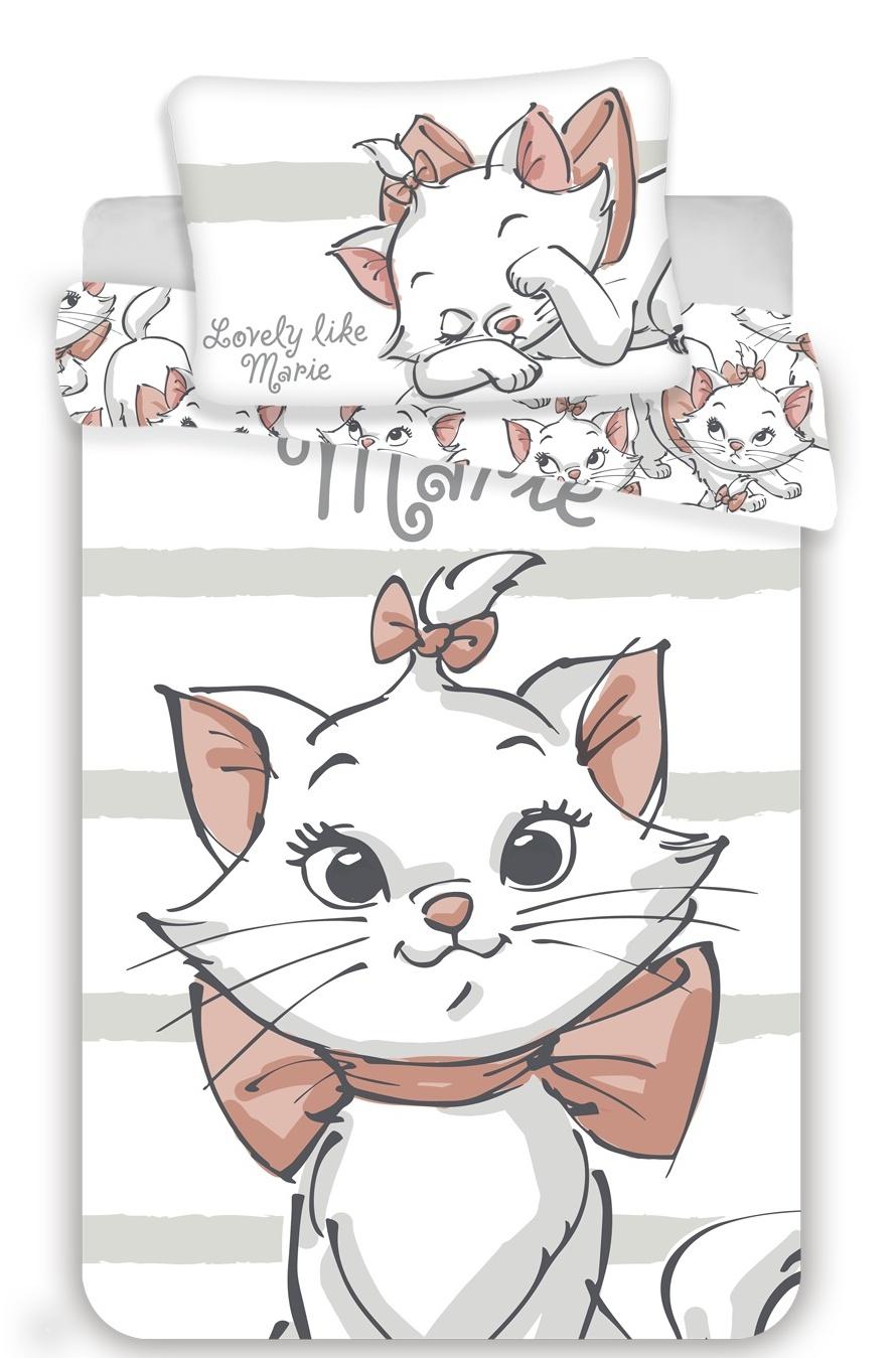 Disney povlečení do postýlky Marie cat white baby 100x135, 40x60 cm