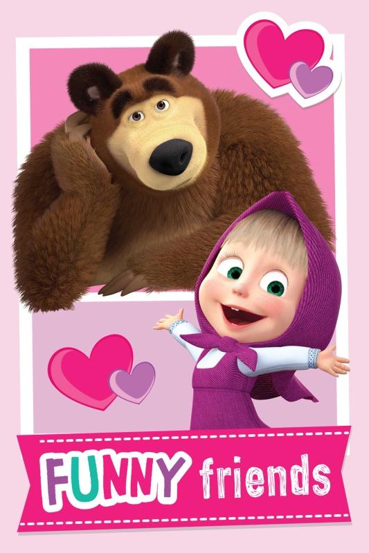 Dětská fleecová deka Máša a medvěd Friends 100x150 cm