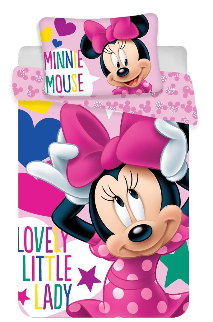 Disney povlečení do postýlky Minnie baby 100x135, 40x60 cm