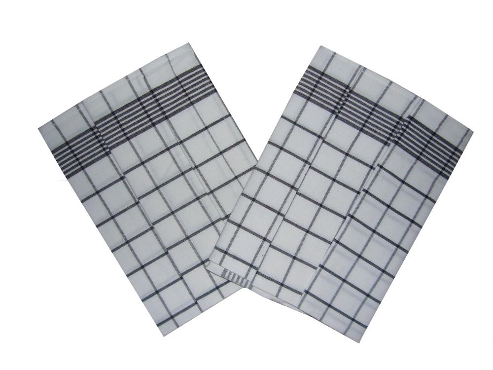 Utěrka Negativ Egyptská bavlna bílá/černá 50x70 cm balení 3 ks