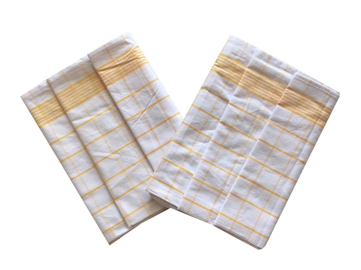 Utěrka Negativ Egyptská bavlna bílá/žlutá - 3 ks