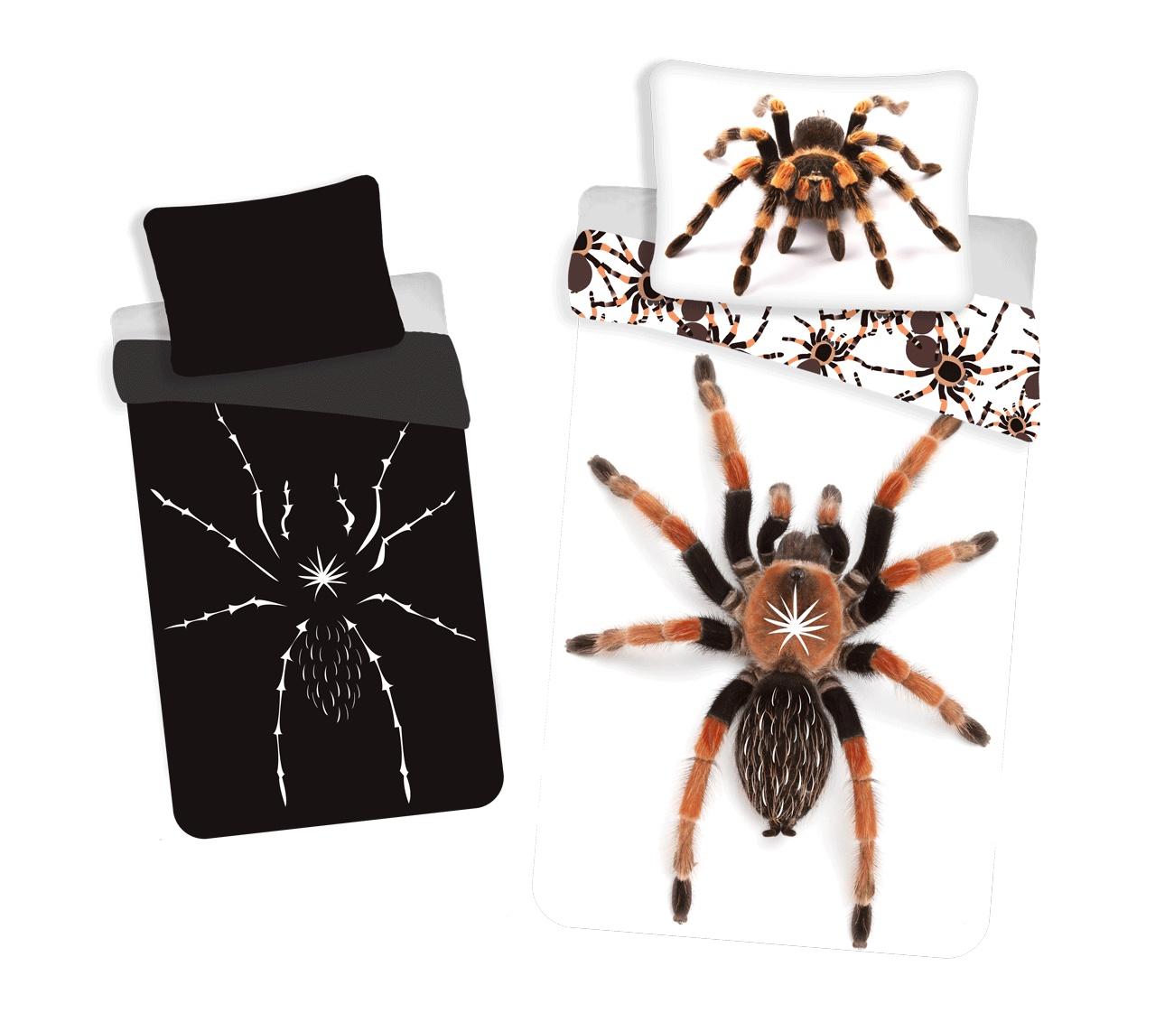 Povlečení Pavouk svítící efekt 140x200, 70x90 cm