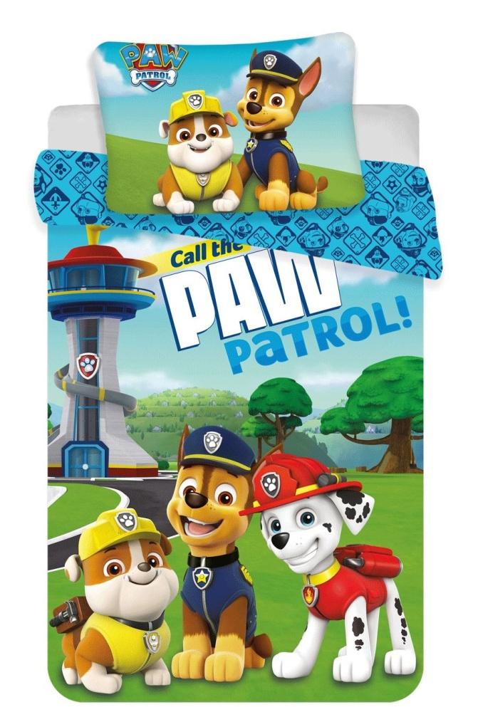 Disney povlečení do postýlky Paw Patrol 121 baby 100x135, 60x40 cm