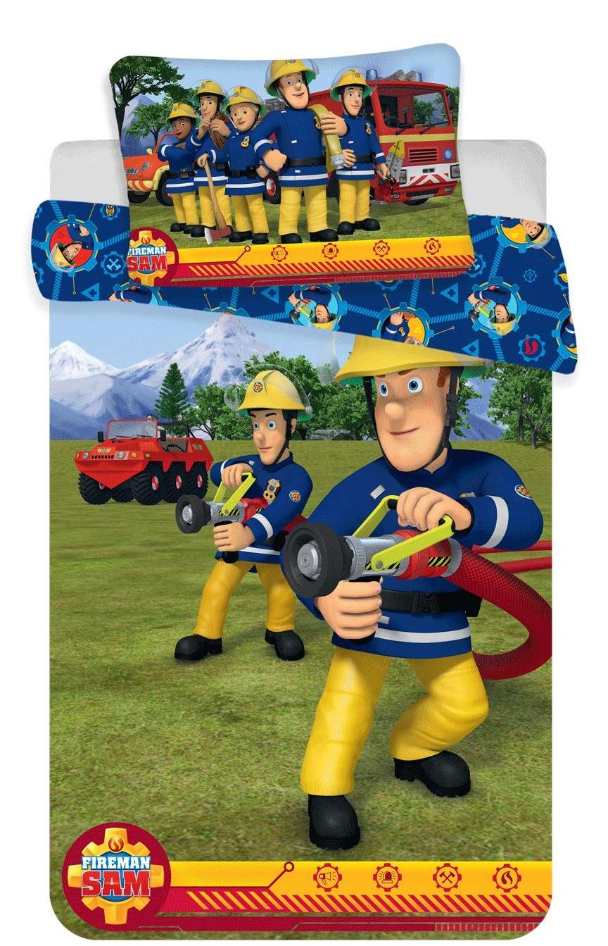 Disney povlečení do postýlky Požárník Sam blue baby 100x135, 40x60 cm