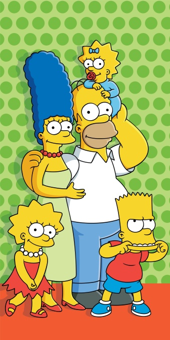 Plážová osuška Simpsons dot 2015 - 75 x 150 cm