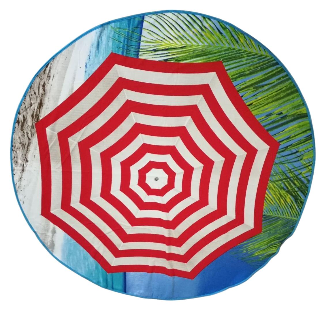 Plážová osuška kruh Slunečník pr.150 cm