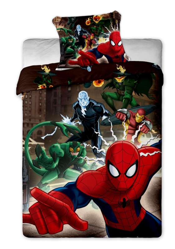 Povlečení Spiderman brown 140x200, 70x90 cm