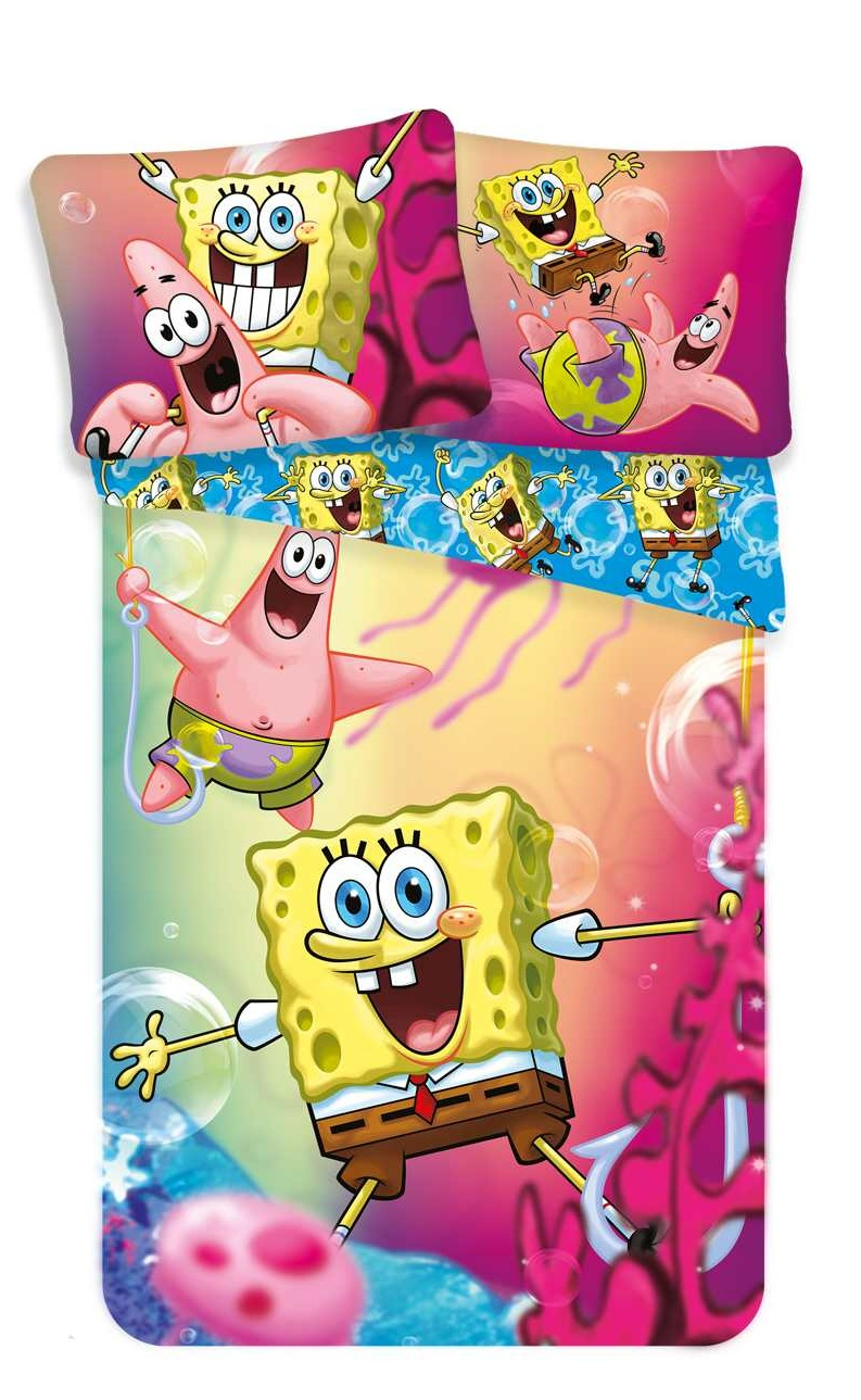 Povlečení Sponge Bob blue 140x200, 70x90 cm
