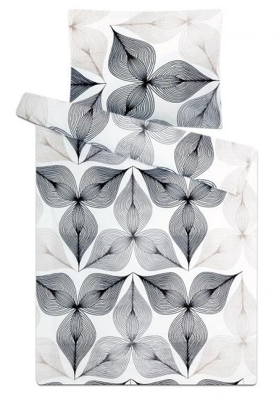 Povlečení mikroflanel Symbióza černobílá 140x200, 70x90 cm