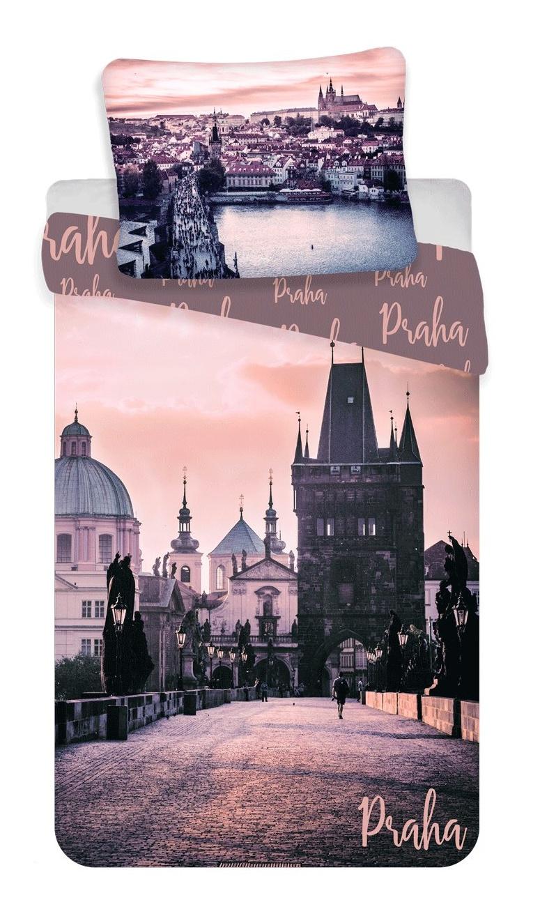 """Povlečení fototisk Praha """"Romantique"""" 140x200, 70x90 cm"""