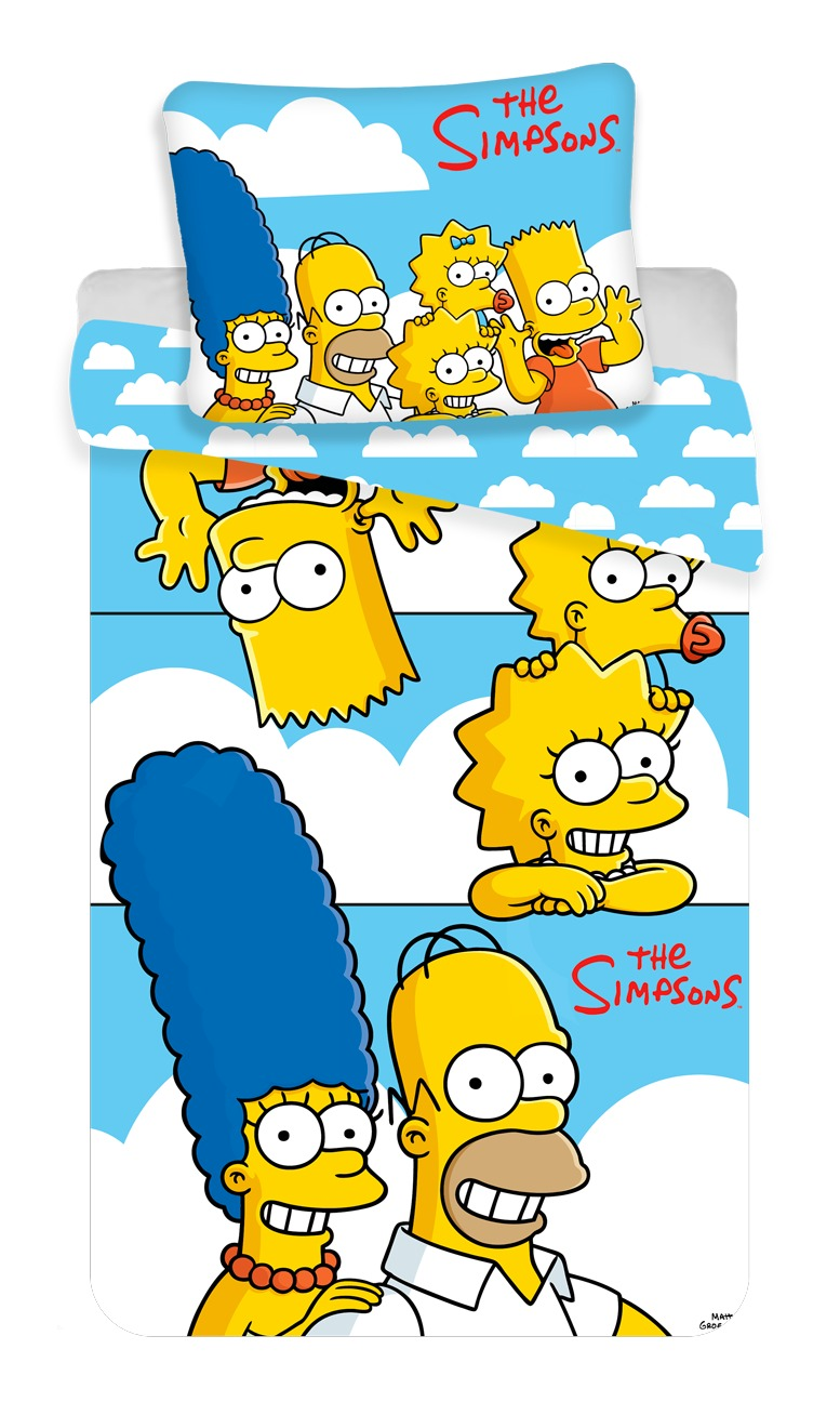 """Povlečení Simpsons Family """"Clouds"""" 140x200, 70x90 cm"""
