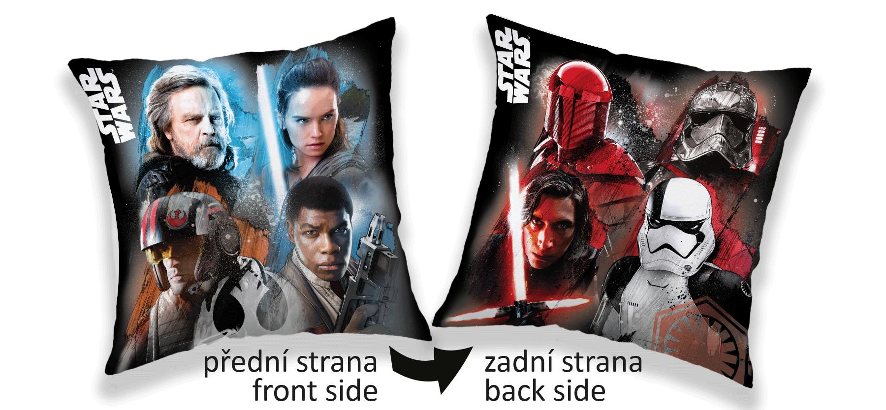 Povlak na polštářek Star Wars light/dark 40x40 cm