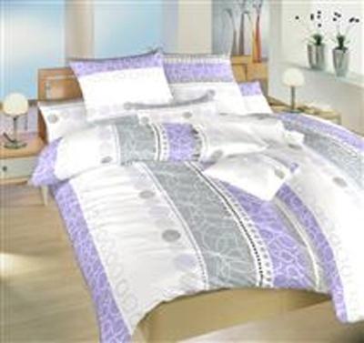 Povlečení bavlna Ateliér fialový 140x200, 70x90 cm