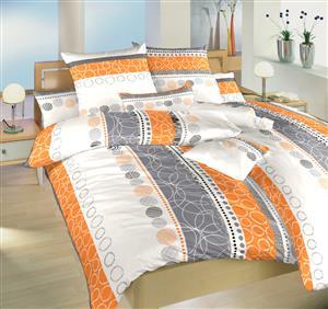 Povlečení bavlna Ateliér oranžový 220x220 cm povlak