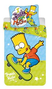 Povlečení Simpsons Bart skate 03 140x200, 70x90 cm