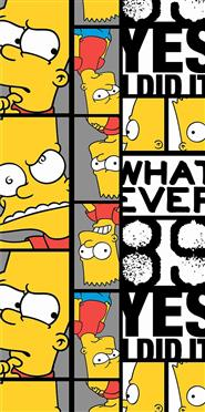 Osuška Simpsons Bart 89 70x140 cm