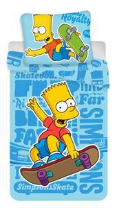 Povlečení Simpsons Bart blue 02 140x200, 70x90 cm