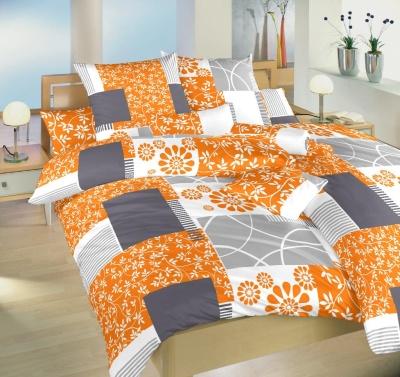Povlečení satén Bluemoon oranžový 140x200, 70x90 cm
