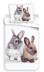 Povlečení fototisk Bunny friends 140x200, 70x90 cm