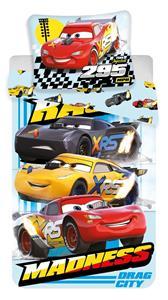 Povlečení Cars Madness 140x200, 70x90 cm