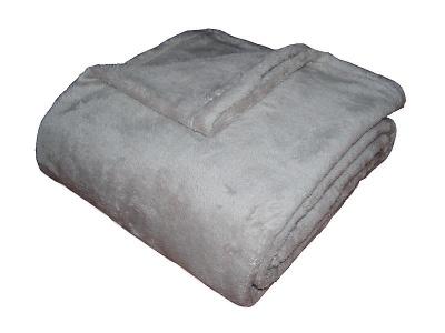 Fine soft deka Dadka světle šedá 150x100 cm