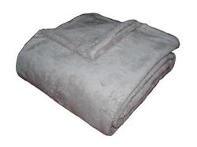 Super soft deka Dadka světle šedá 150x100 cm