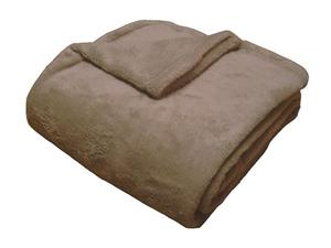 Super soft deka Dadka tmavě béžová 150x100 cm